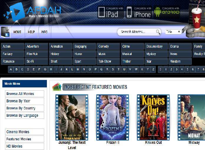 15+ Afdah Similar Website To Watch Movies and TV Shows
