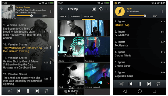 Winamp (Inbuilt Equalizer for Android)