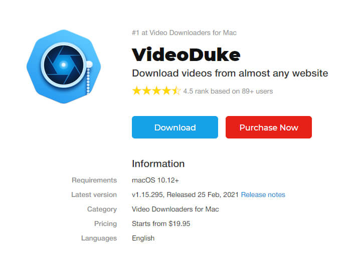 videoduke- best video downloader for mac